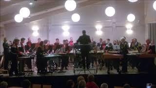 Drumband Diligentia speelt samen met drumband Gronsveld: Saiha.