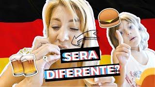 Argentina probando Productos distintos del Mc Donalds de Alemania.