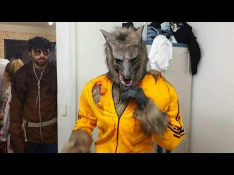 Excelente disfraz de hombre lobo para halloween o carnaval