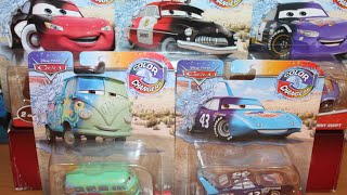 Mattel Disney Cars 2021 Color Changers Unboxing The King Fillmore Cruisin' McQueen Sheriff Bobby