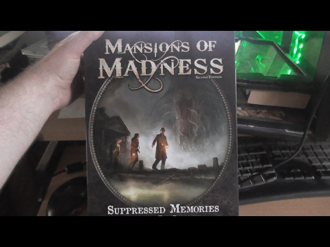 An unboxing of Mansions of madness: Suppressed Memories Figure and Tile set