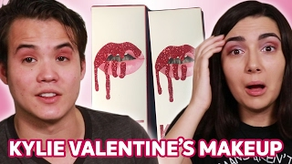 Trying Kylie Jenner's Valentine's Makeup With My Boyfriend • Saf & Tyler - Video Youtube
