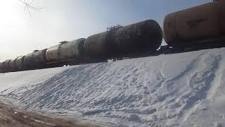 Тепловоз 2ТЭ10М-0922 подходит к станции Архангельск-Город