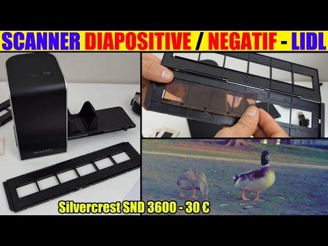 scanner diapositive négatif lidl silvercrest présentation Negative Digitiser photo slide unboxing