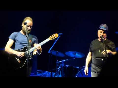 Paul Simon & Sting live - Fragile (Sting song) - Munich 2015-03-28