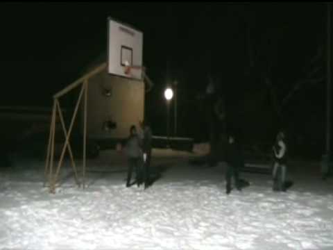 Streetball Lipik in snow