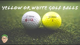 YELLOW OR WHITE GOLF BALLS
