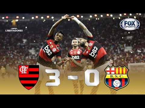 ATROPELO RUBRO-NEGRO NO MARACANÃ! Melhores momentos de Flamengo 3 x 0 Barcelona-EQU na Libertadores