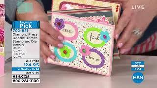 Diamond Press Doodle Frames Stamp And Die Bundle