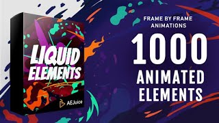 Best Liquid Elements Pack for After Effects | Motion Graphics