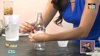 ¿Cómo hacer de una botella un vaso?