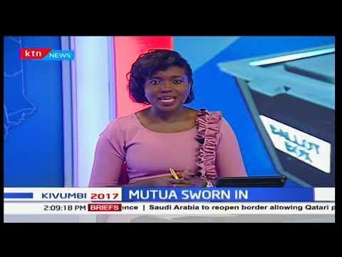 Dr. Afred Mutua take oath office