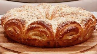"""Эта выпечка самый настоящий хит и украшение праздника! Пирог""""яблочные рожки""""!"""