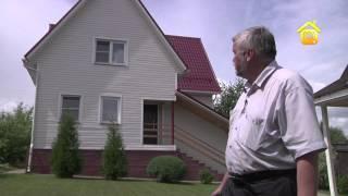 Смотреть онлайн Бюджетное строительство загородного дома с мансардой