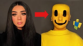 TRANSFORMING INTO A ROBLOX CHARACTER *scary*