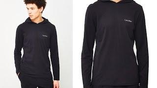 Calvin Klein Underwear Comfort Cotton Movement Hoodie Black