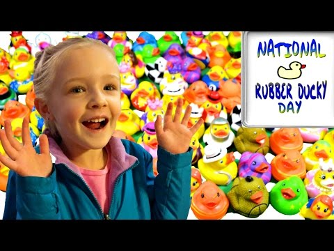100 Rubber Ducks Scavenger Hunt for National Rubber Ducky Day