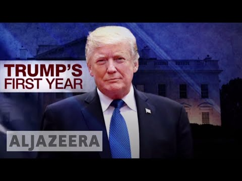 Trump's first year: Approval ratings at around 30 percent ??