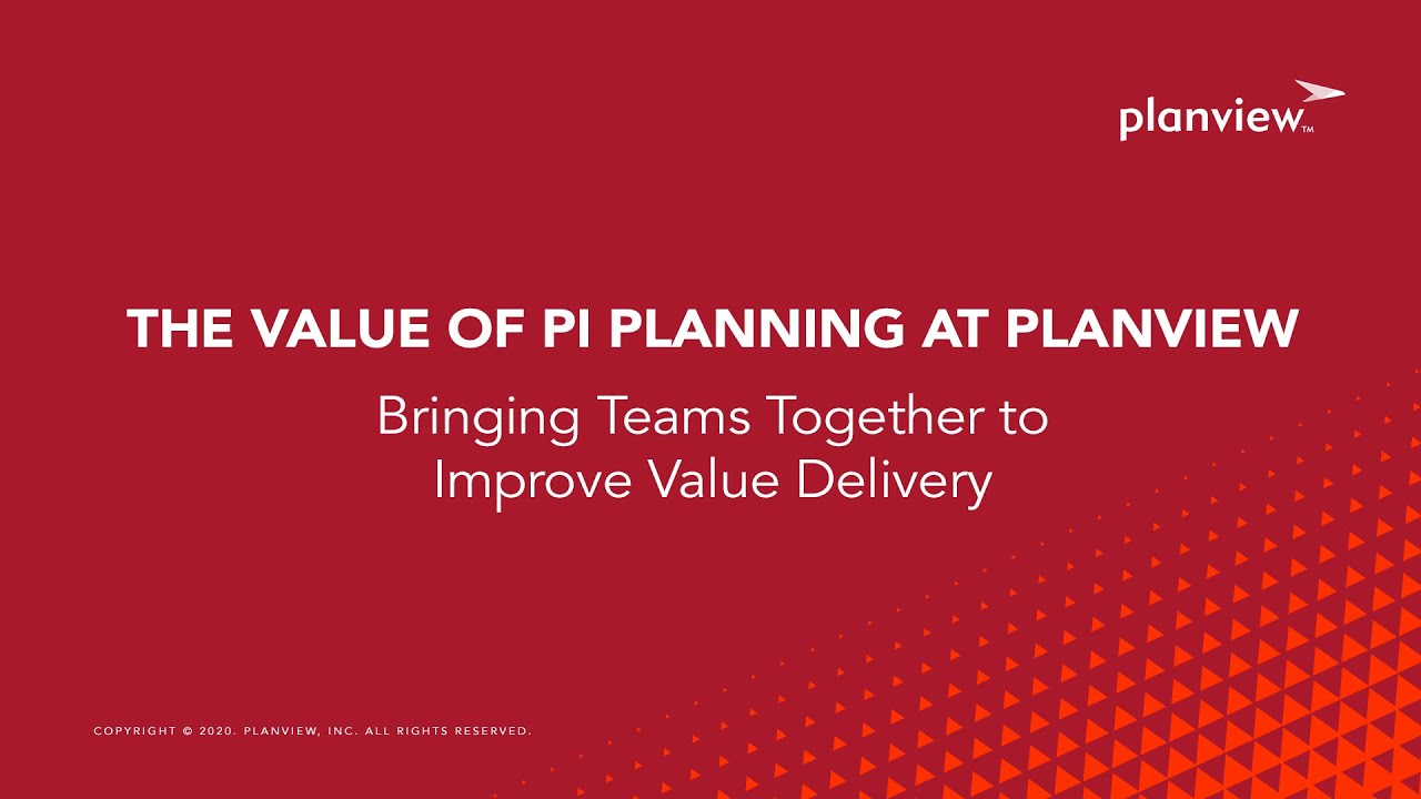 Video: The Value of PI Planning at Planview - Team Members Tell All