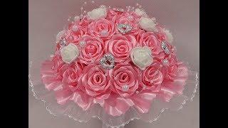 bukiet z róż ze wstążki 🌼kanzashi 🌼 jak wykonać🌼krok po kroku🌼 (148)