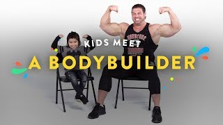 Kids meet a body builder