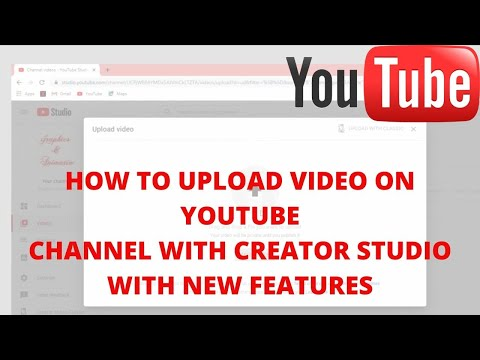 How to upload video on YouTube channel with creator studio