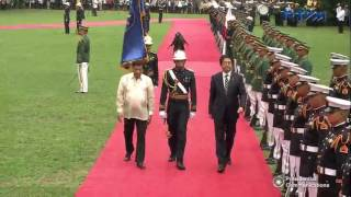 Arrival Ceremony in Malacañang of PM Shinzo Abe 1/12/2017