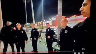 Someone called the cops on Tony vera and said he was pointing a laser at aircraft landing  LAX