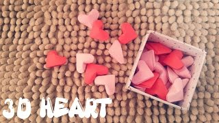 Origami Easy - 3D Heart - Valentines Day Craft