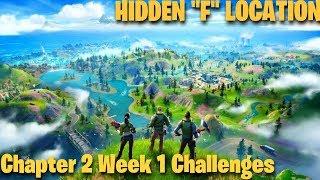 """Fortnite Chapter 2 Week 1, Hidden Letter """"F"""" Location, Alter Ego Challenge (Fortnite Battle Royale)"""