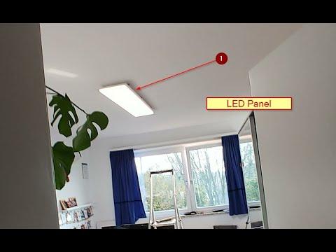 LED Panel Deckenmontage. LED Deckenleuchte mit Montage Problemen