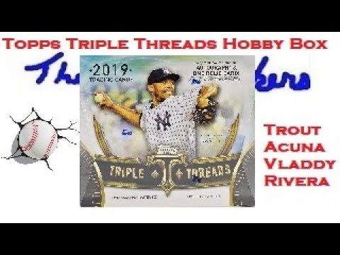 2019 TOPPS Triple Threads FIRST LOOK Brand New Baseball Hobby Box Opening Acuna Jr Vladdy Mike Trout