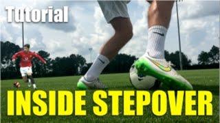 Inside Step Over Football Soccer Skill