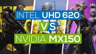 nvidia geforce mx150 graphics vs intel® uhd graphics 620