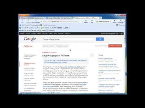 Video Cara Daftar Google Adsense