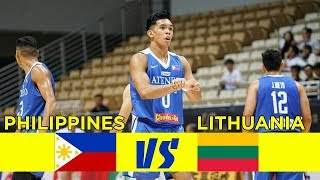 ATENEO vs LITHUANIA • Full Game • Jone Cup 2018 • July 20, 2018