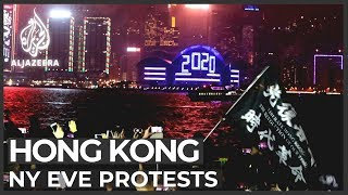 Hong Kong protesters disrupt New Year's Eve celebrations