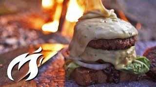 How to grill a BEYOND MEAT DOUBLE CHEESEBURGER outdoor asmr style 🔥🔥🔥