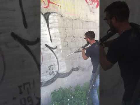 Pulizia Criogenica Graffiti Con Ghiaccio Secco
