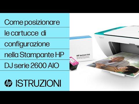 Come posizionare le cartucce di configurazione nella Stampante HP DeskJet serie 2600 All-in-One