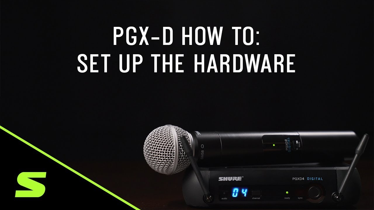 Shure PGX-D How To: Set Up the Hardware