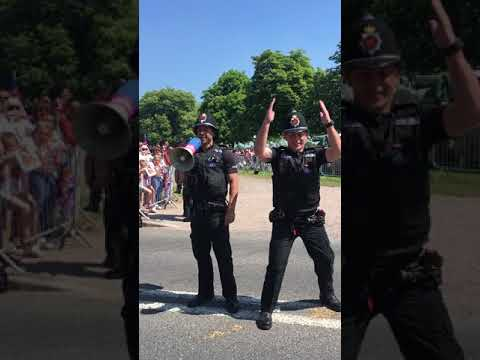 Crowd Control at the Royal Wedding yesterday
