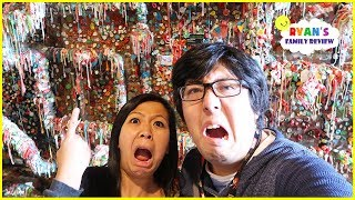 World's Largest Gum Wall!!!! Used Bubble Gum Stick on the Wall!!!!