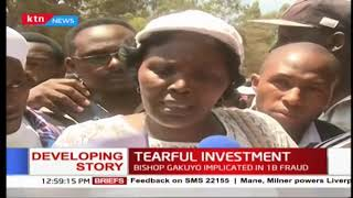 Ekeza Sacco members protest along Kiambu Road after being turned away from DCI HQ