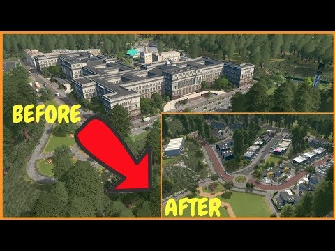 Converting A University Into A Town | Cities Skylines