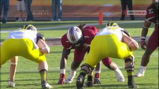 Jadeveon Clowney Hit vs. Michigan - Outback Bowl