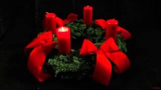 1st Advent Wreath - German Adventskranz - With One Candle Lit For The First Sunday Of Advent