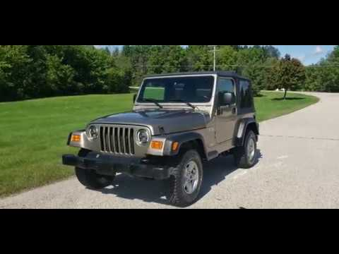 2003 Jeep Wrangler X 4WD 2dr SUV in Big Bend, Wisconsin - Video 1