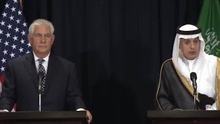 Sec. Tillerson News Conference in Saudi Arabia. 5/20/2017.  Pres. Trump in Saudi Arabia