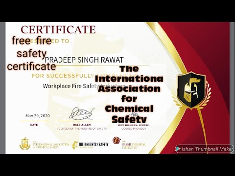 free 2020 free fire safety online certificate latest course - YouTube